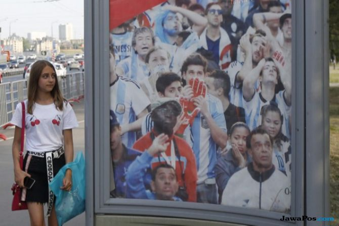 Timnas Argentina, Piala Dunia 2018, Billboard
