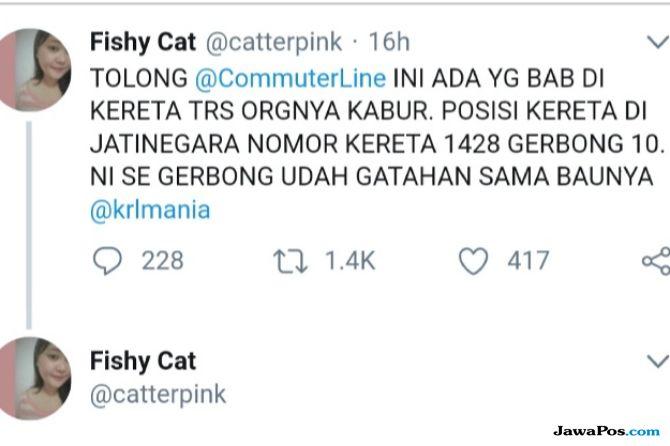 PT KCI Sayangkan Ada Penumpang BAB di KRL