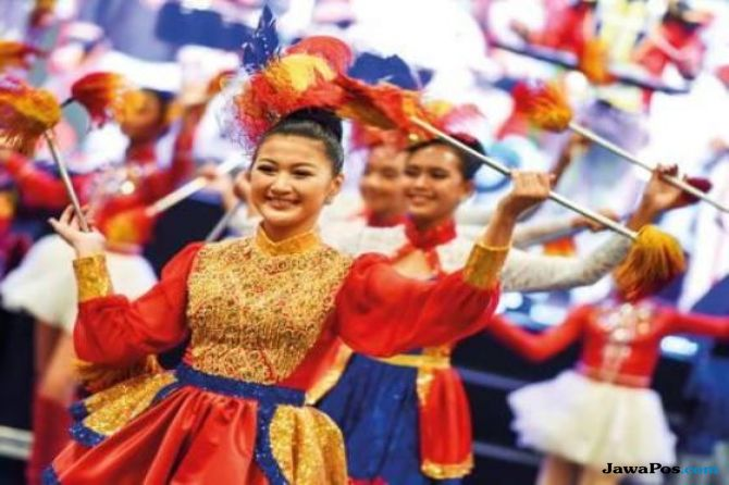 Rayakan Kemerdekaan, Ribuan Warga Filipina Padati WTC Dubai