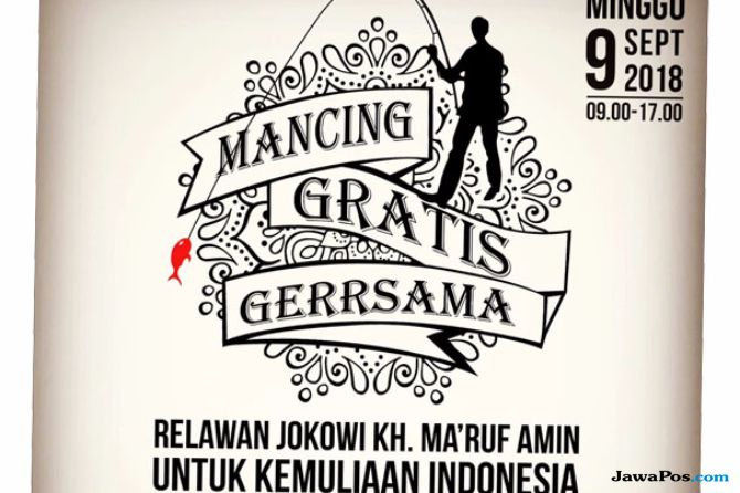 Poster Ajakan Mancing Relawan Jokowi