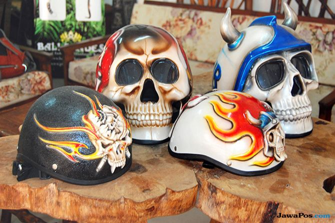 Rhino Art Helmet: Helm Unik Ala Ghost Rider