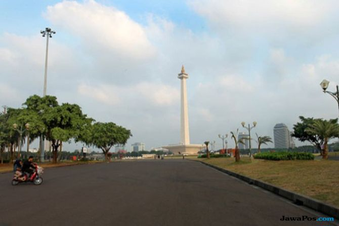 Sambut Asian Games, Monas Suguhkan Tarian Atraksi Air Mancur