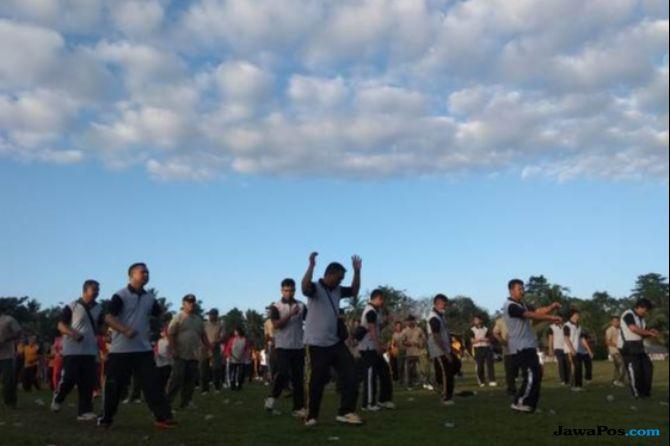 Sambut HUT ke-73 RI, Ribuan Orang Jalan Santai di Poso