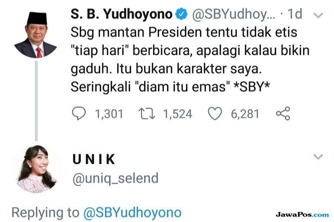 SBY Berkicau 'Diam Itu Emas', Netizen: Tapi Bapak Curhat Terus