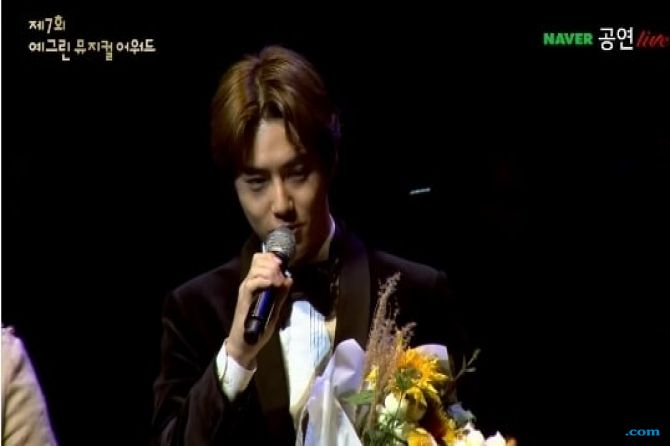Sempat Kesepian, Suho EXO Malah Menang di Yegreen Musical Awards ke-7