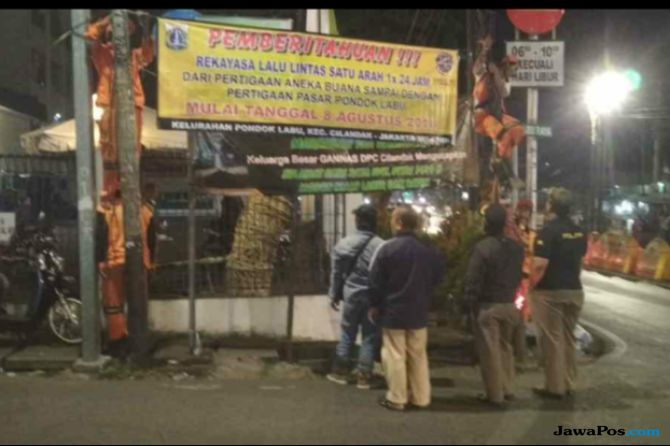 Sering Macet,  Rekayasa Lalin Dilakukan di Pasar Pondok Labu
