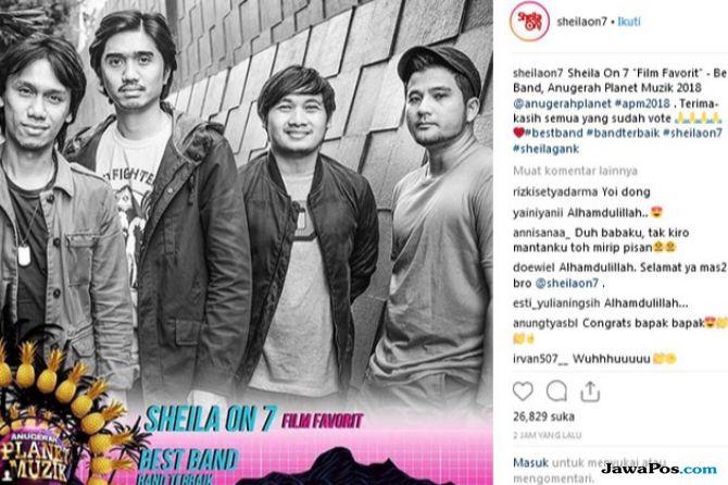 Sheila on 7 Didapuk Jadi Band Terbaik di Anugerah Planet Muzik 2018