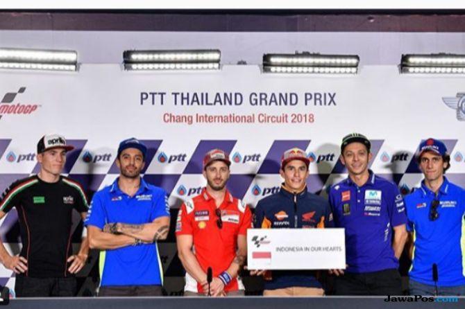 MotoGP, Gempa Sulawesi Tengah, Tsunami Palu, Gempa Donggala, Valentino Rossi, Andrea Dovizioso, Marc Marquez, GP Thailand