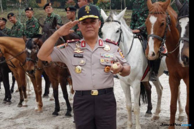 Siswa Sespimti Bangun Sinergi dengan TNI Lewat Berkuda