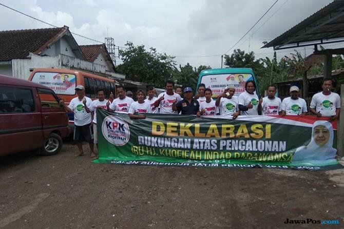 Sopir Angkot Lumajang-Probolinggo Deklarasi Dukung Khofifah