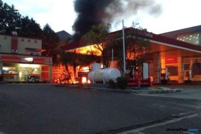 SPBU di Bogor Hangus Dilalap Api, Pemilik Rugi Rp 250 Juta