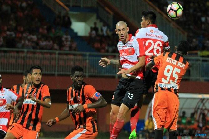 Sukacita Pahlawan Perseru di Kandang Madura United