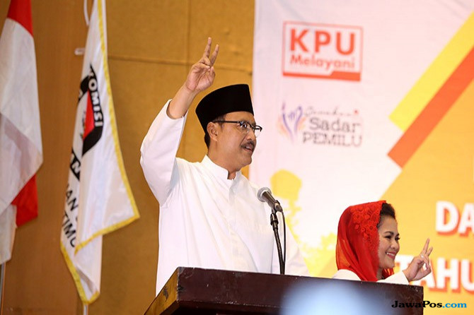 Survey Charta Politika: Mayoritas Pendukung Jokowi Pilih Gus Ipul-Puti