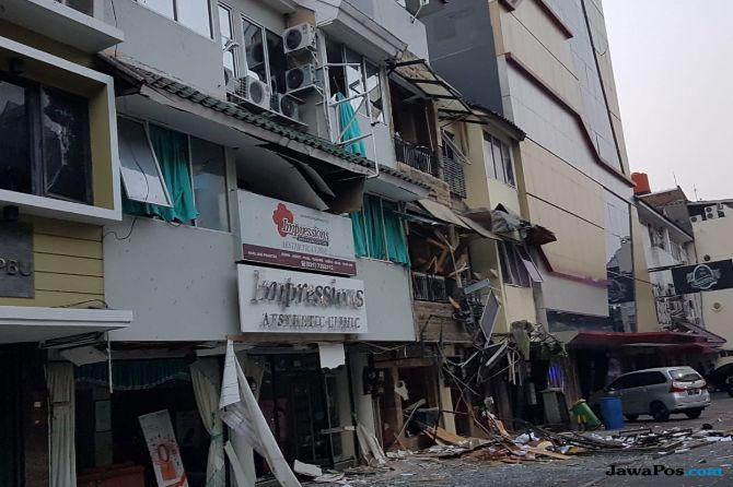 Tabung Gas 12 Kg Meledak, Satu Bangunan Hancur
