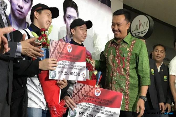 Tiba di Indonesia, Kevin/Marcus Disambut Bonus dari Pemerintah