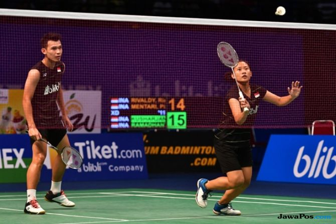 Taiwan Terbuka 2018, Rinov Rivaldy/Pitha Haningtyas Mentari, bulu tangkis, Indonesia