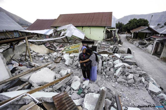 Trauma Berat Pascagempa, Warga Lombok Tak Berani di Dalam Rumah