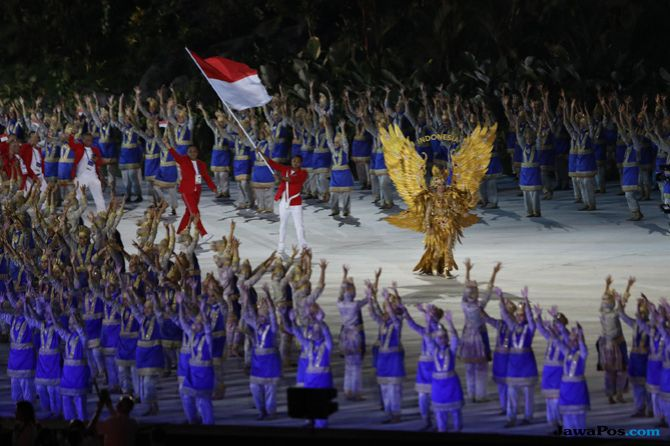 Asian Games 2018, Opening Ceremony, Indonesia, Kostum Garuda