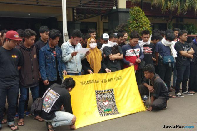 Usai Ribut dengan Pengguna Jalan, PSHT Kota Malang Ucapkan Ikrar Damai