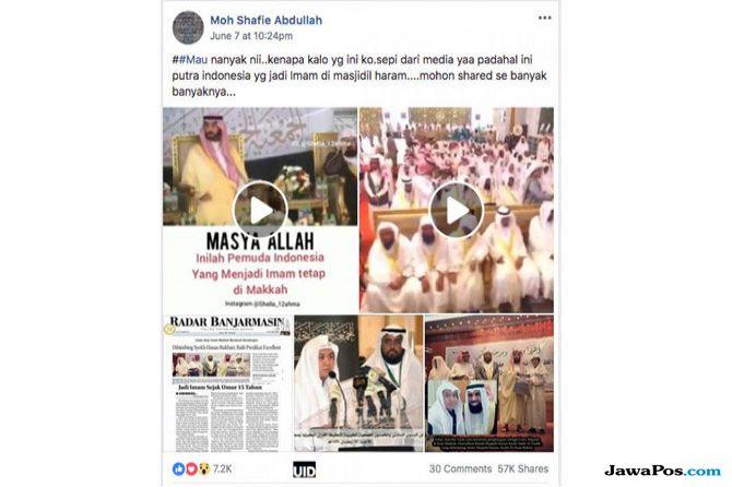 Ustad Asal Belum Pernah Jadi Imam di Masjidilharam