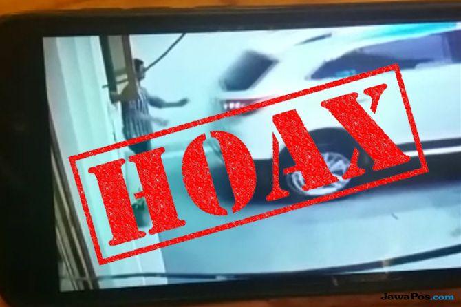 Viral Video Hoax Istri Tabrak Suami saat Parkir Mundur di Surabaya