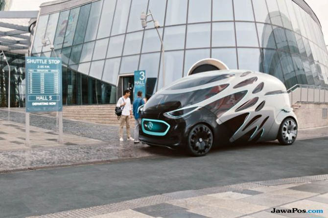 Vision Urbanetic Mercedes-Benz, Mobil Penumpang dan Cargo Tanpa Sopir