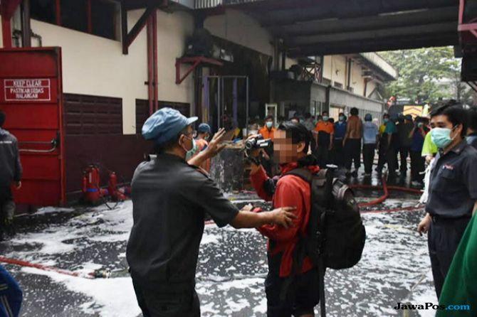 Wartawan Diusir Saat Meliput Kebakaran Pabrik Primapack