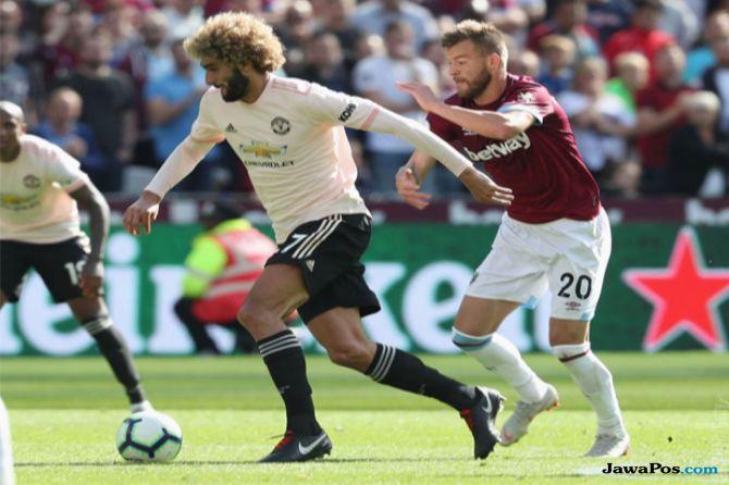 Premier League 2018-2019, Liga Inggris, Maanchester United, West Ham United, West Ham 3-1 MU, Manchester United kalah