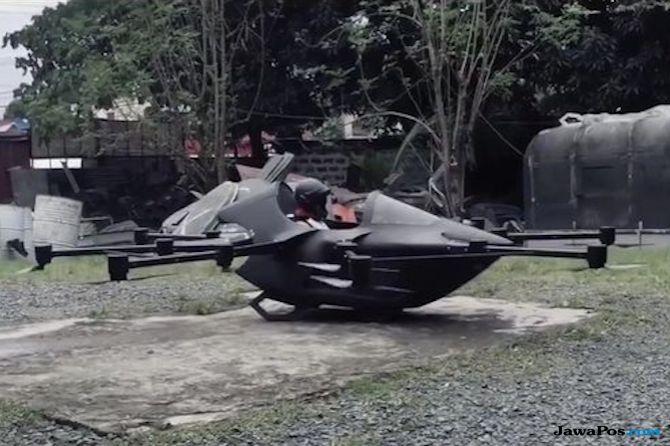 Wow! Dari Bengkel Rumahnya Pemuda Ini Sukses Ciptakan Mobil Terbang