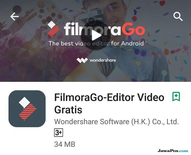 FilmoraGo, edit video smartphone