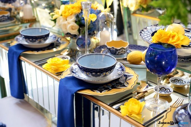 sebastian gunawan, zen porcelain tableware, koleksi arcadia, piranti makan, alat makan,