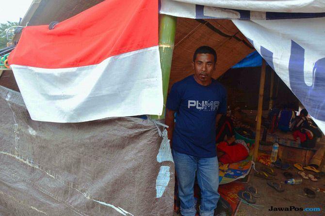 Agustusan di Tengah Tempat Pengungsian Korban Gempa Lombok