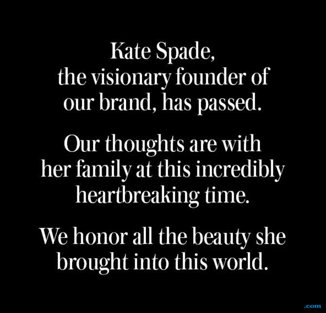 Akhiri Hidup di 55 Tahun, Desainer Kate Spade Diduga Bunuh Diri