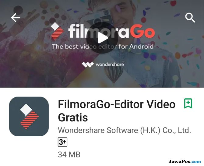 FilmoraGo, edit video smartphone