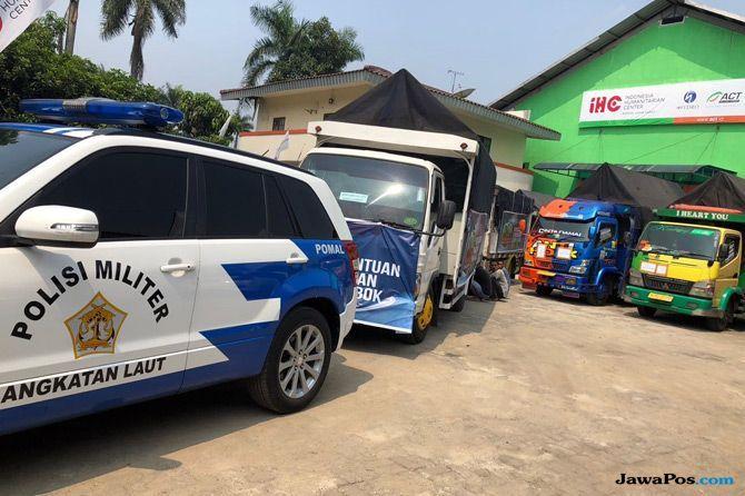 Bantuan Korban Gempa Mulai Dimuat ke Kapal Kemanusiaan Lombok