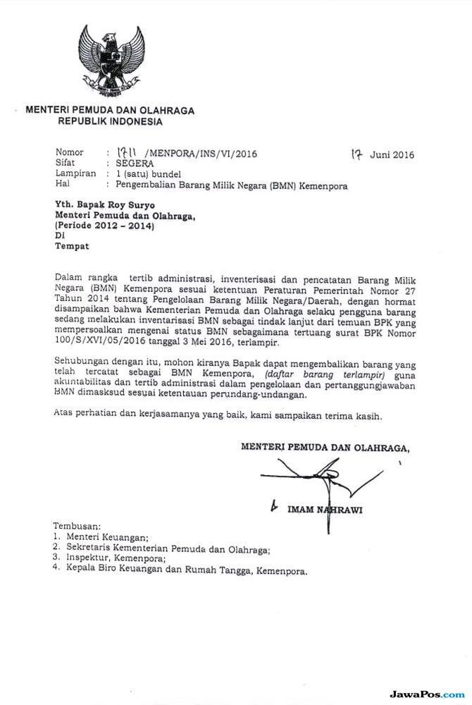BMN dengan Unit Terbanyak yang Diduga Dibawa Roy Suryo ...
