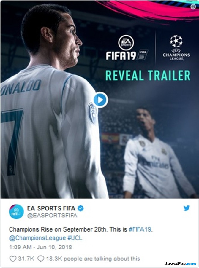 Catat Tanggalnya, UEFA Champions League Akan Hadir di Game FIFA 2019