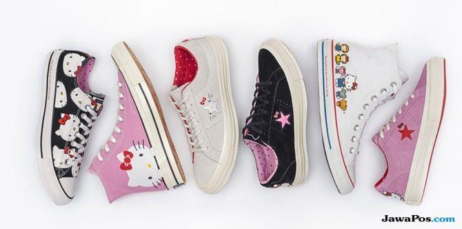 tren sepatu, sepatu converse terbaru, koleksi converse hello kitty,