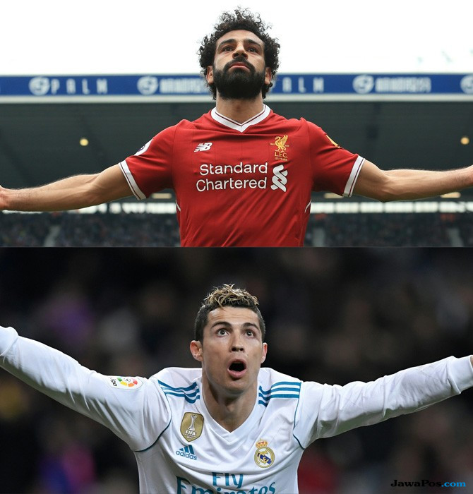 Cristiano Ronaldo, Mohamed Salah, Real Madrid, Liverpool, Final Liga Champions, Final Liga Champions 2017-2018