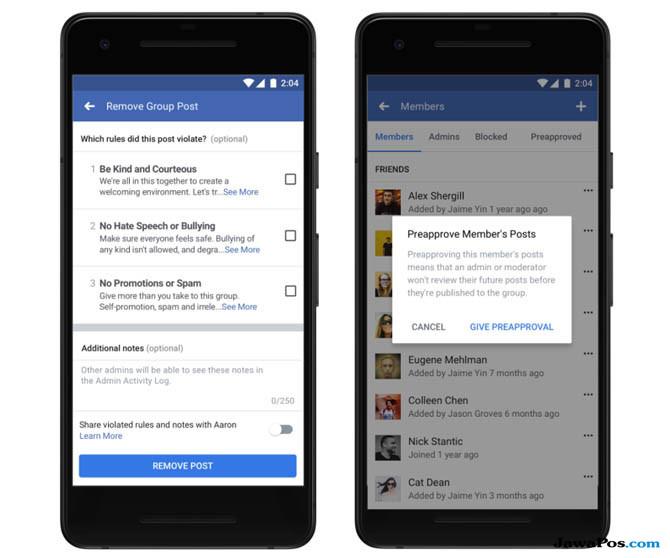 facebook, Fitur baru Facebook, Tools admin grup