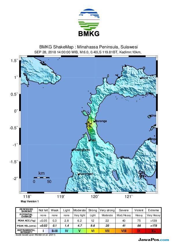 Gempa 5,9 SR Guncang Donggala, Warga Berhamburan