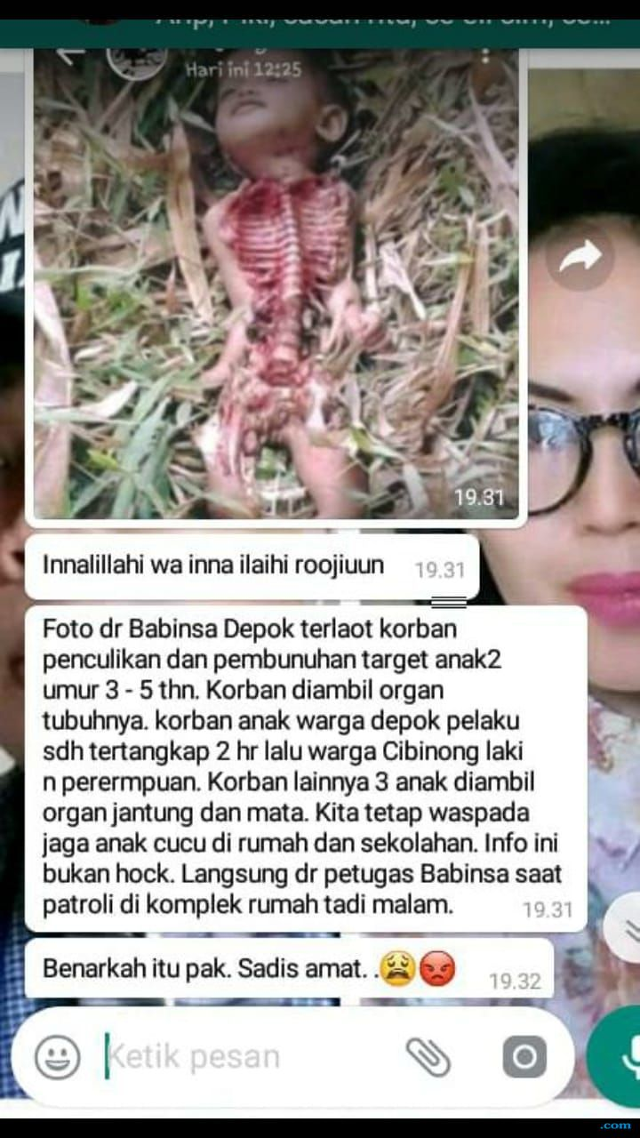 Hoax! Viral Pesan WA Penculikan Anak dan Diambil Organ Tubuh