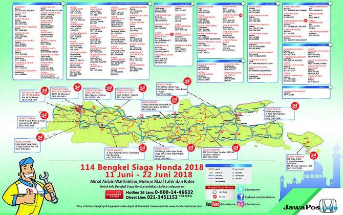 Honda Buka 114 Titik Bengkel Plus 13 Posko Siaga