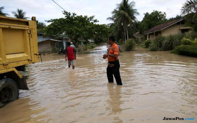 Intensitas Hujan Tinggi, Banjir Rendam 5 Desa di Asahan