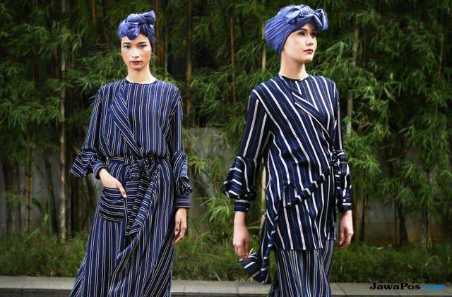 Itang Yunasz Rilis Koleksi Modest Wear Bermotif Dedaunan Colorfull