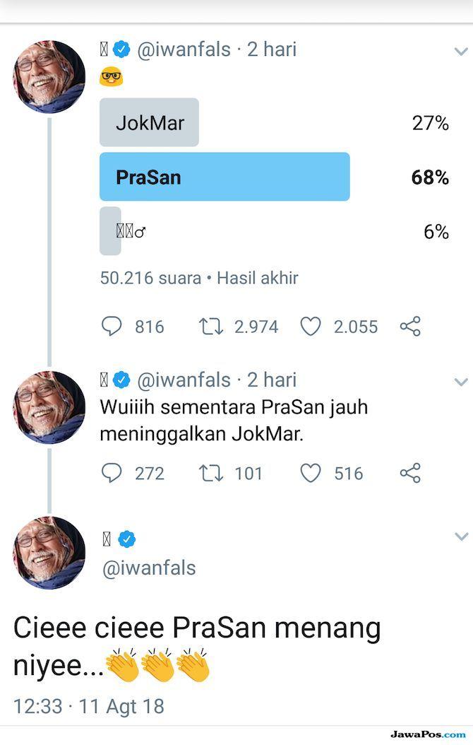 Iwan Fals polling