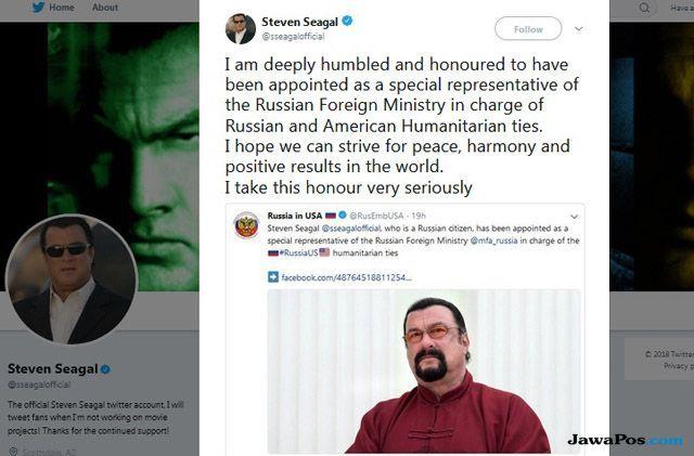 Jadi Wakil Khusus Rusia untuk AS, Tugas Berat Menanti Steven Seagal