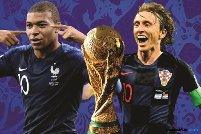 Piala Dunia 2018, Timnas Prancis, Timnas Kroasia, Jadwal Live TV, Jadwal Siaran Langsung, Final Piala Dunia 2018