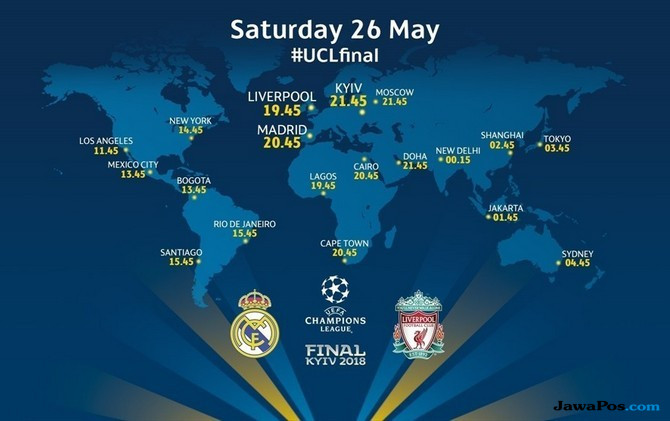 Jadwal Final Liga Champions, Jadwal TV Final Liga Champions, Jadwal Liverpool vs Real Madrid, Liga Champions 2017-2018,