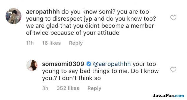 Jeon Somi Bungkam Haters Lewat Balasan Komentarnya
